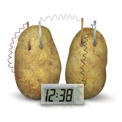 Ceas cu cartofi - jucarie ecologica