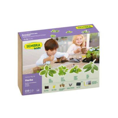 Kit de gradinarit mare - Ierburi aromatice pentru copii - Sembra