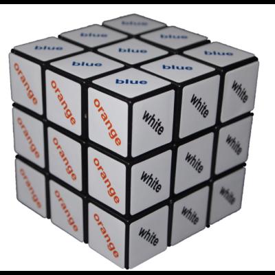 Cub Rubik 3X3 - cu text color