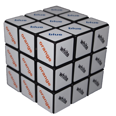 Cub Rubik 3X3 - cu text color