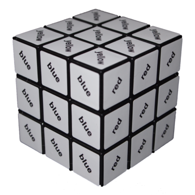 Cub Rubik 3X3 - cu text negru