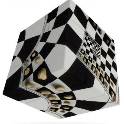 V-Cube 3x3 - Iluzie tabla de sah